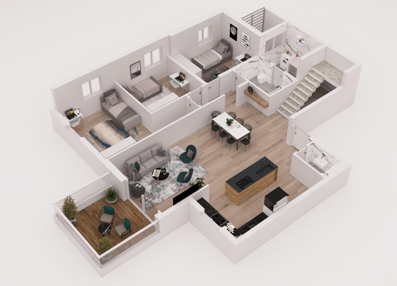 דירות דופלקס 6 חדרים יבנה הירוקה